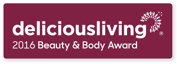 Delicious Living Beauty and Body Award Decal