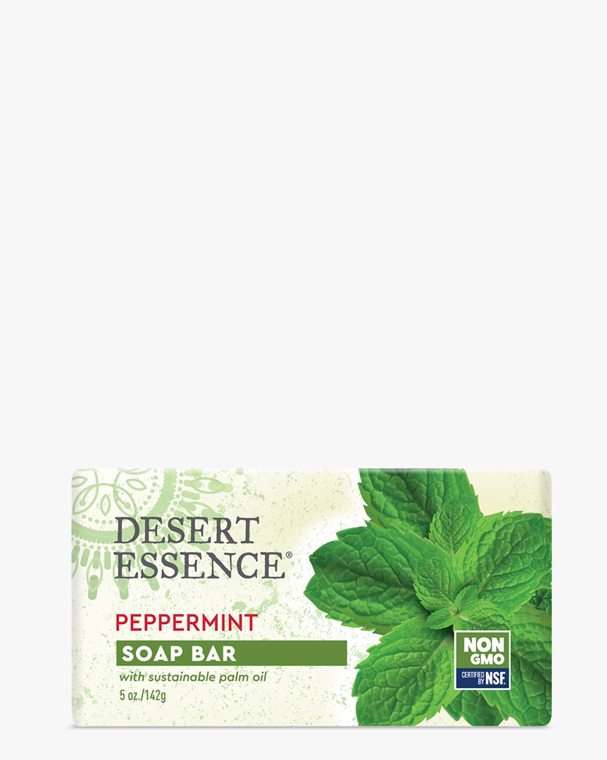 Desert Essence coupon: Desert Essence Peppermint Soap Bar, 5 oz. | Vegan | Gluten-Free