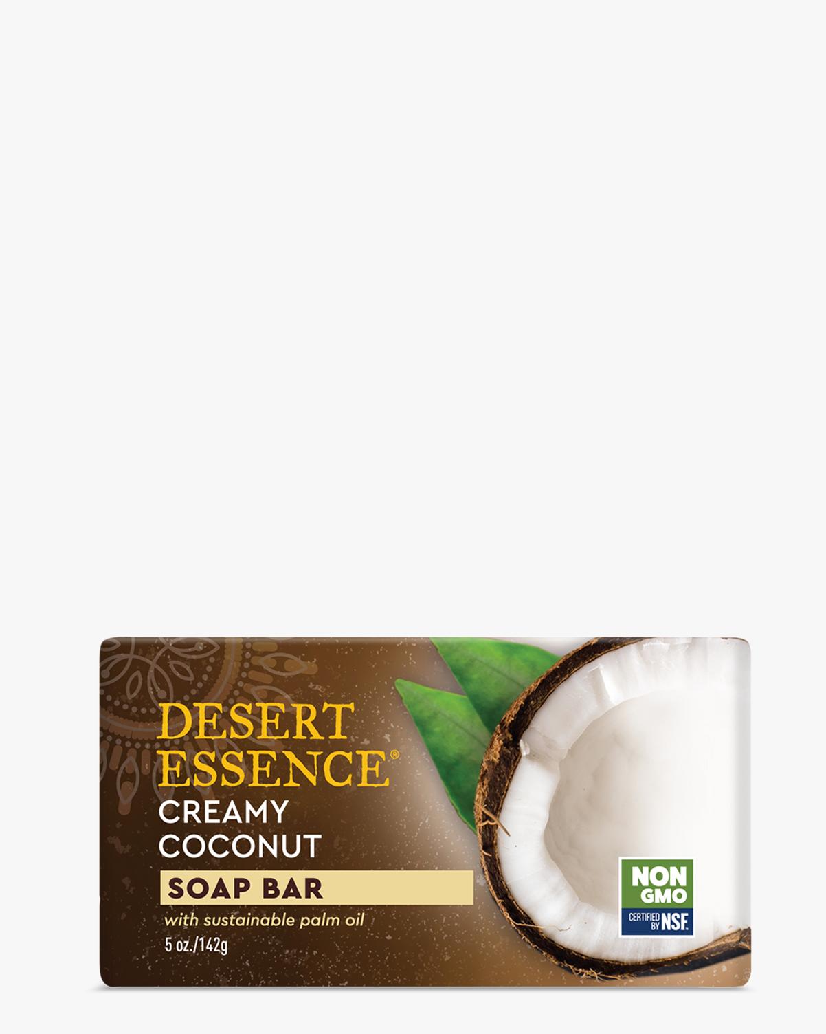 Desert Essence coupon: Desert Essence Creamy Coconut Soap Bar, 5 oz. | Vegan | Gluten-Free