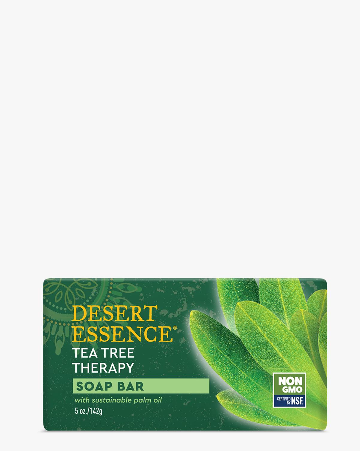 Desert Essence coupon: Desert Essence Tea Tree Oil Therapy Cleansing Soap Bar, 5 oz. | Vegan | Gluten-Free