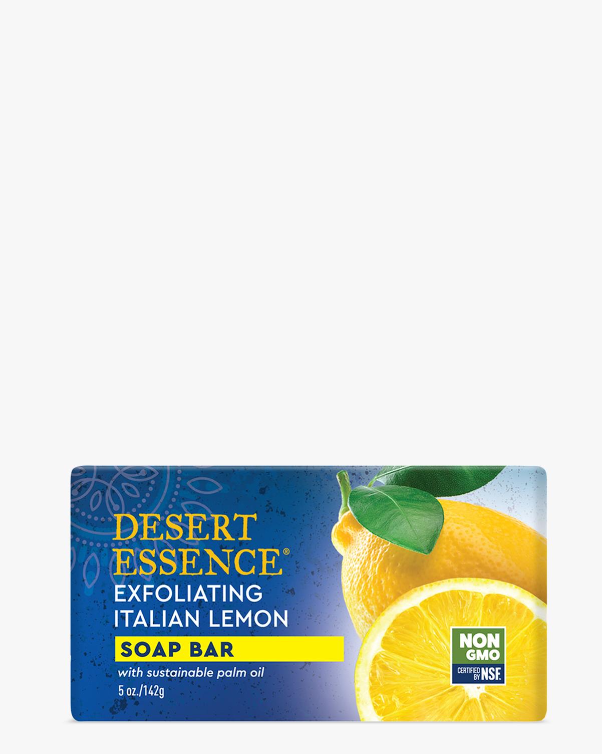 Desert Essence coupon: Desert Essence Exfoliating Italian Lemon Soap Bar, 5 oz. | Vegan | Gluten-Free