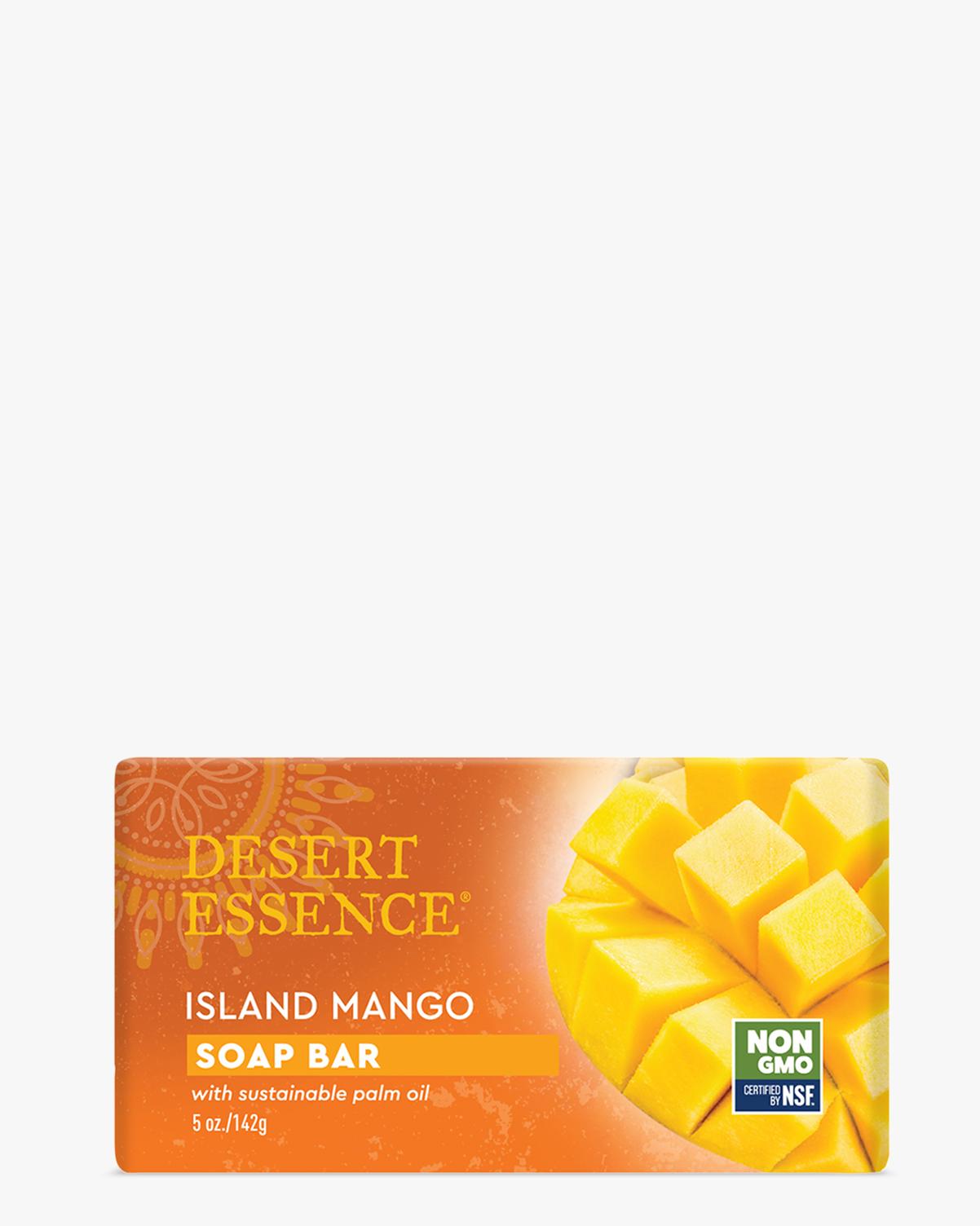 Desert Essence coupon: Desert Essence Island Mango Soap Bar, 5 oz. | Vegan | Gluten-Free