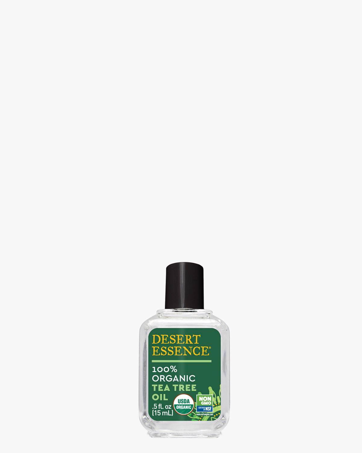 Desert Essence coupon: Desert Essence Organic Tea Tree Oil, 0.5 fl. oz. | Vegan | Gluten-Free