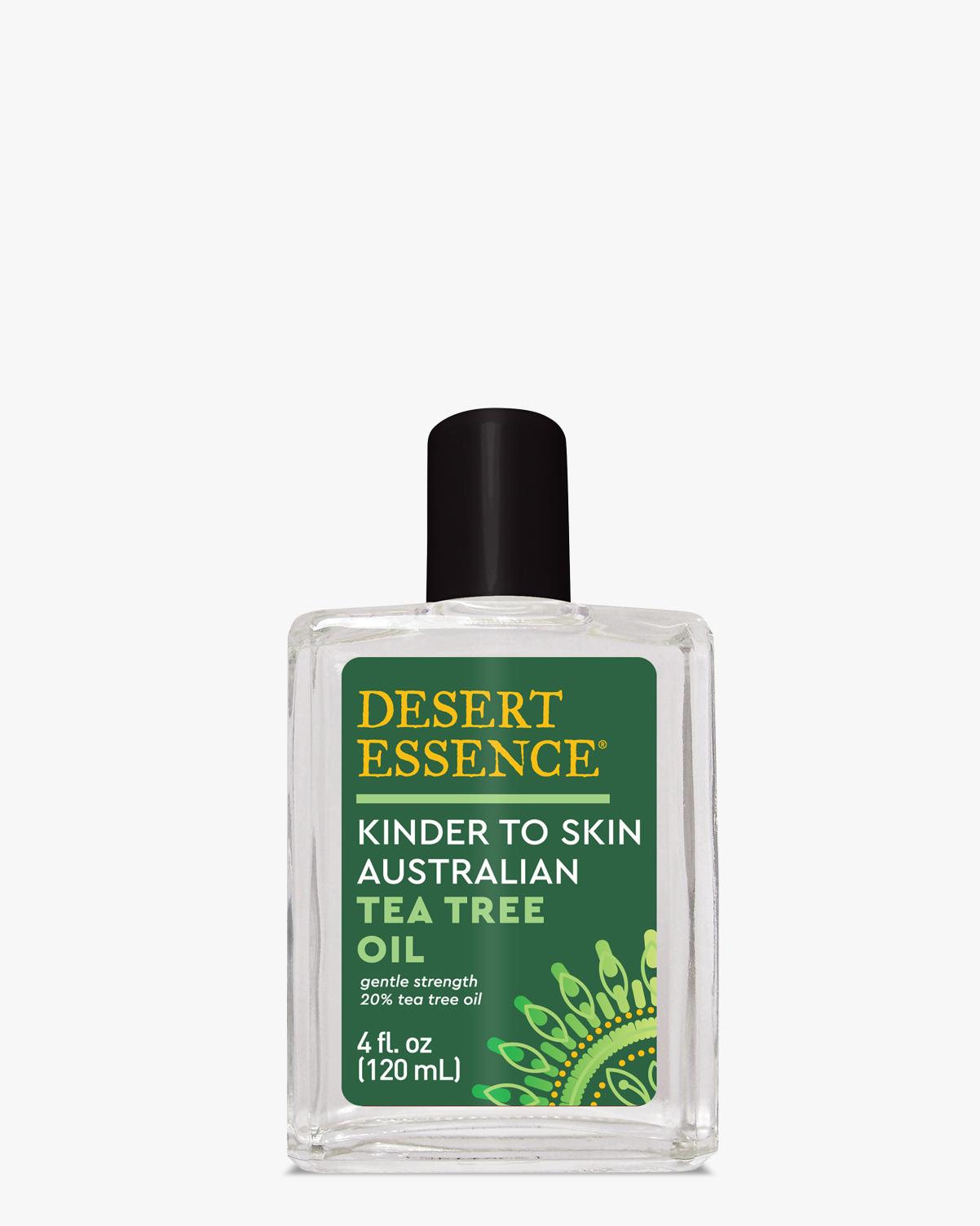 Desert Essence coupon: Desert Essence Kinder To Skin Australian Tea Tree Oil, 4 fl. oz. | Vegan | Gluten-Free
