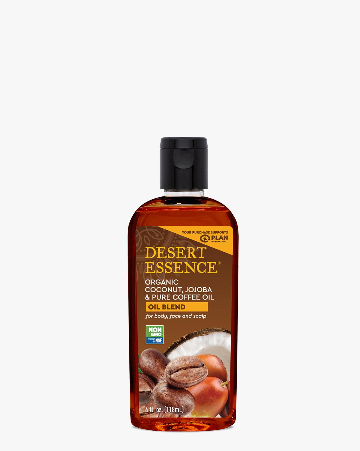 Desert Essence coupon: Desert Essence Organic Coconut, Jojoba & Coffee Oil, 4 fl. oz. | Vegan | Gluten-Free