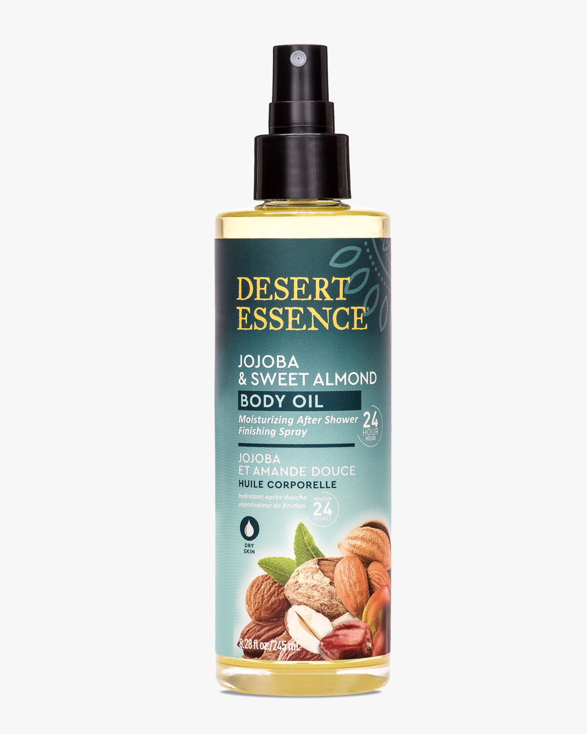 Desert Essence coupon: Desert Essence Jojoba & Sweet Almond Body Oil Spray, 8.28 fl oz. | Vegan