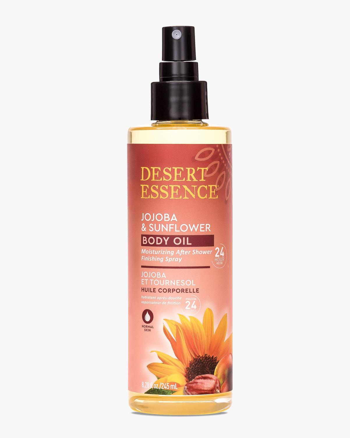 Desert Essence coupon: Desert Essence Jojoba & Sunflower Body Oil Spray, 8.28 fl oz. | Vegan