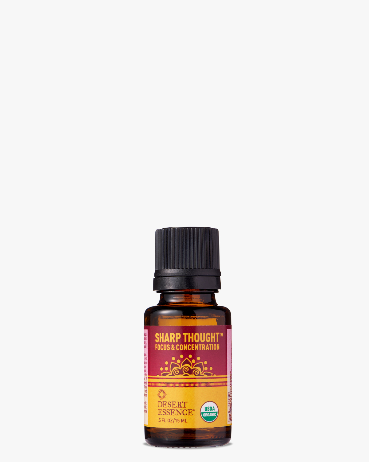 Desert Essence coupon: Desert Essence Sharp Thought Organic Essential Oil, 0.5 fl. oz. | Vegan | Gluten-Free