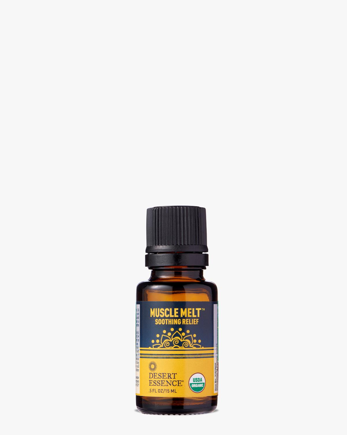 Desert Essence coupon: Desert Essence Muscle Melt Organic Essential Oil, 0.5 fl. oz.   Vegan   Gluten-Free