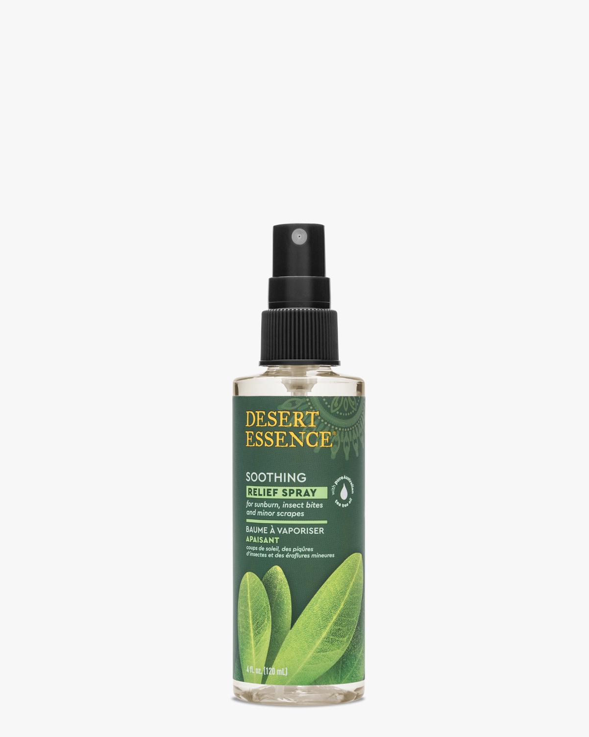 Desert Essence coupon: Desert Essence Tea Tree Oil Relief Spray, 4 fl. oz. | Vegan | Gluten-Free