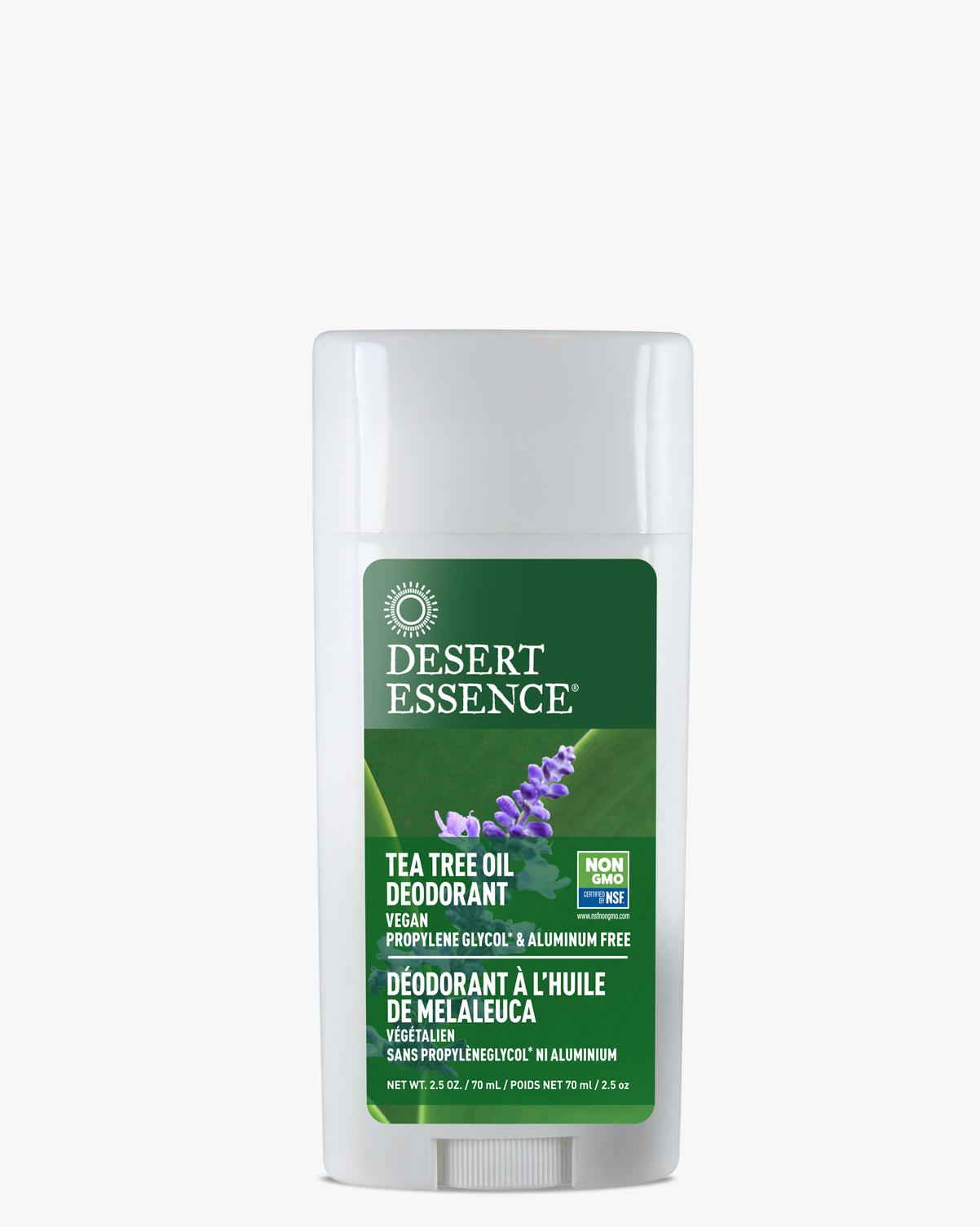 Desert Essence coupon: Desert Essence Tea Tree Oil Lavender Deodorant, 2.5 oz.   Vegan   Gluten-Free