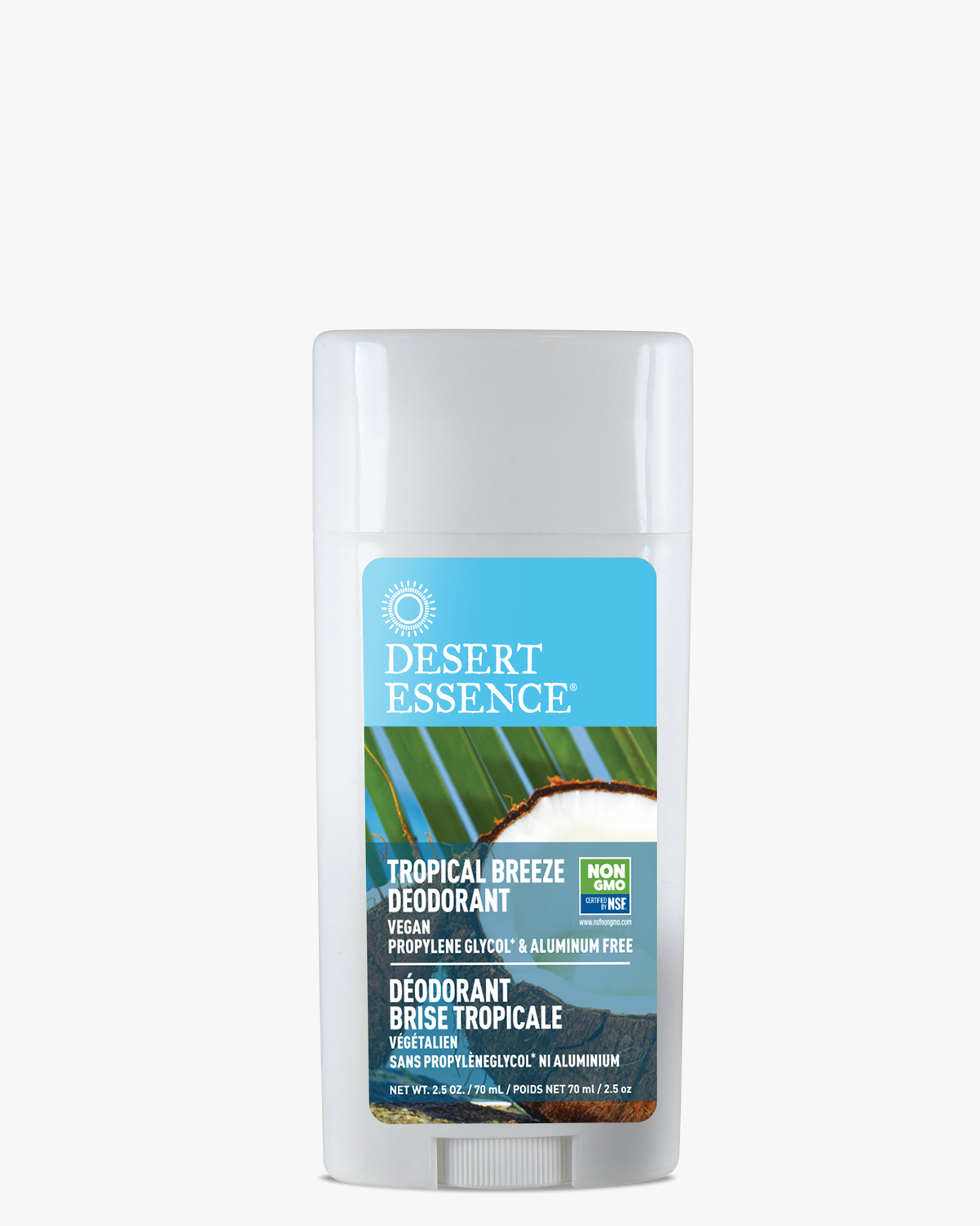 Desert Essence coupon: Desert Essence Tropical Breeze Deodorant, 2.5 oz.   Vegan   Gluten-Free