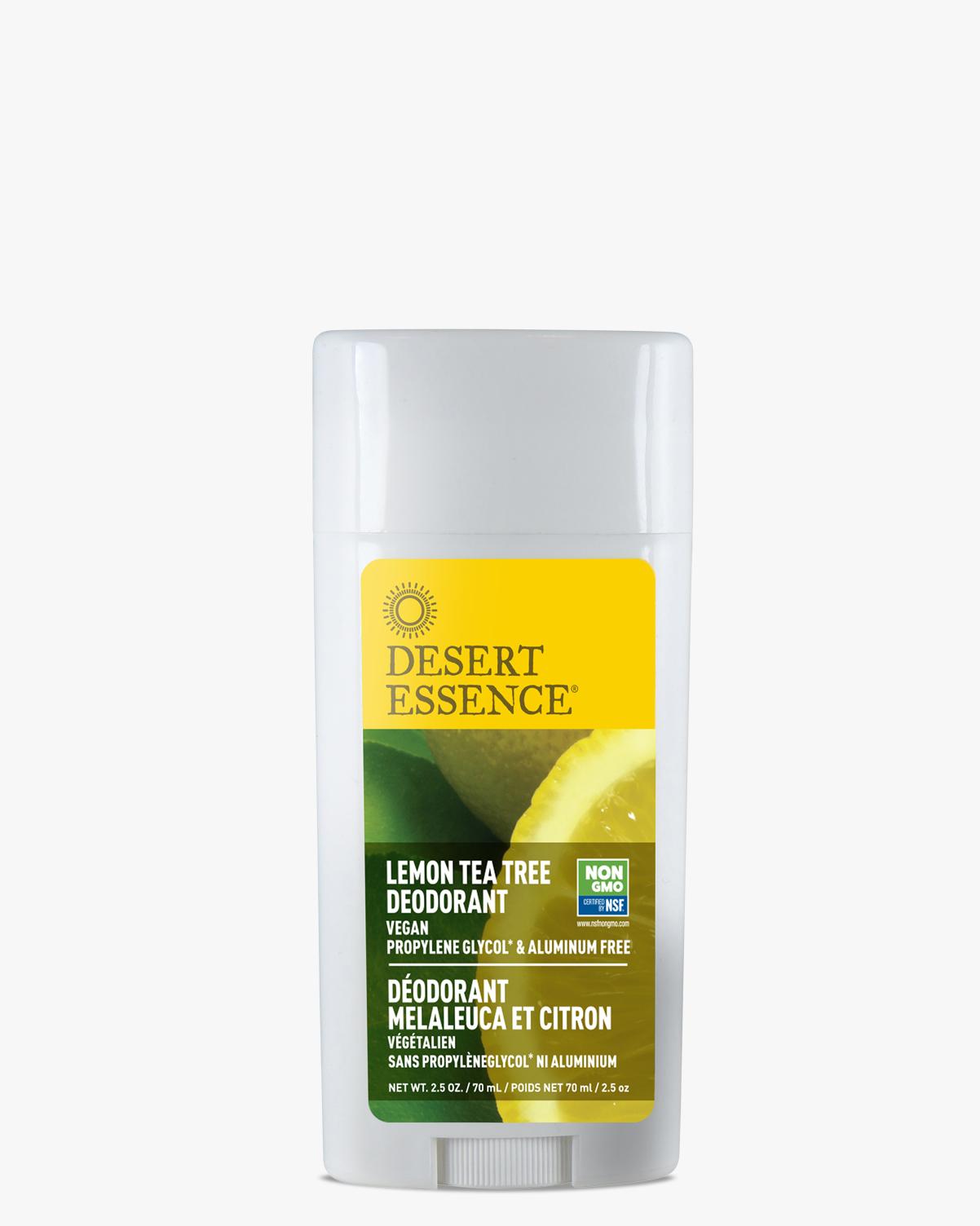 Desert Essence coupon: Desert Essence Lemon Tea Tree Deodorant, 2.5 oz. | Vegan | Gluten-Free