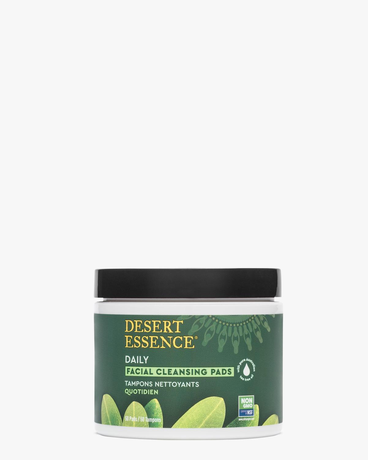 Desert Essence coupon: Desert Essence Tea Tree Oil Facial Cleansing Pads, 50 pads | Vegan | Gluten-Free