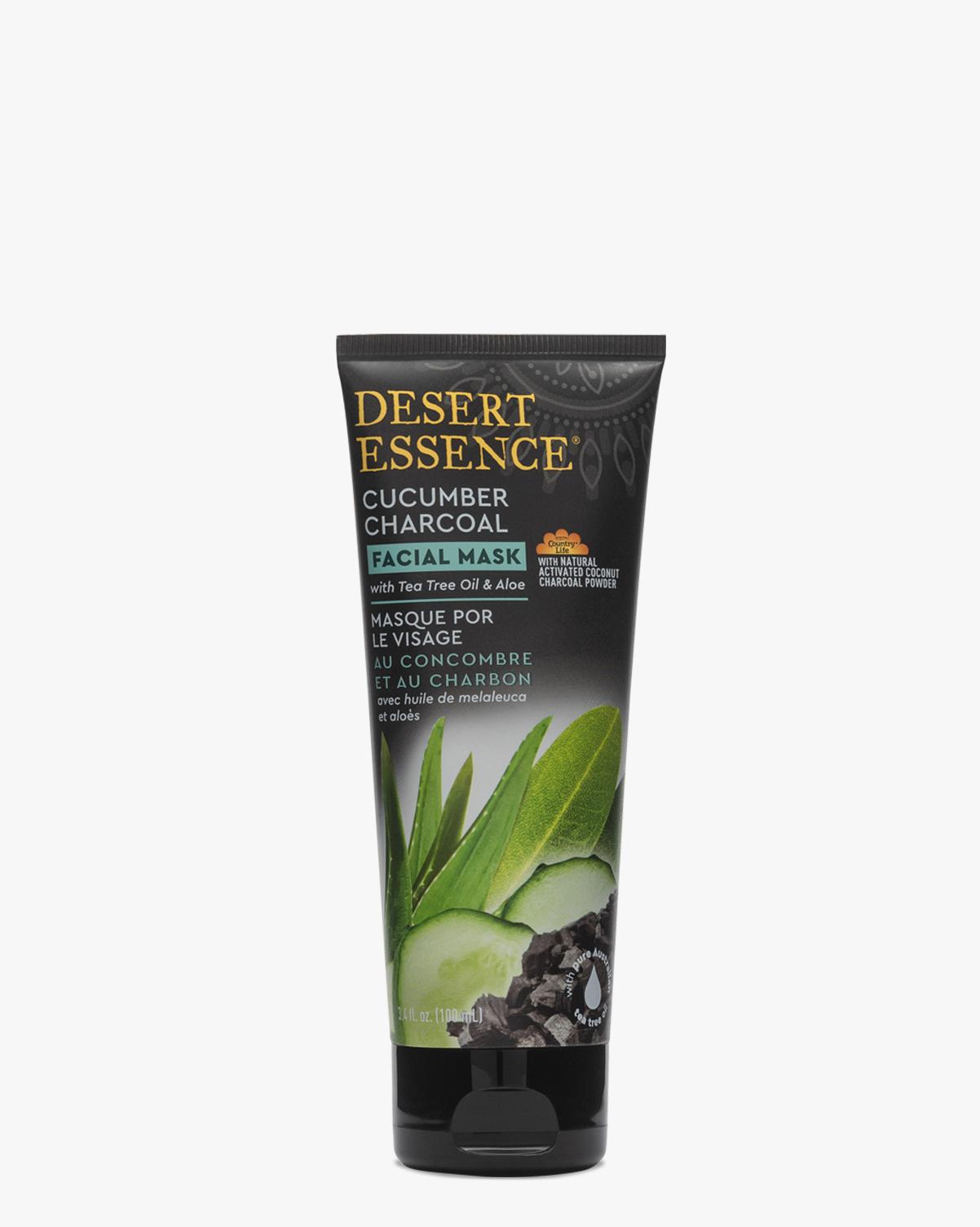 Desert Essence coupon: Desert Essence Cucumber Charcoal Facial Mask, 3.4 fl. oz | Vegan | Gluten-Free