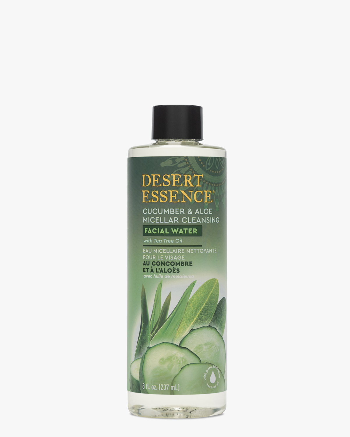 Desert Essence coupon: Desert Essence Cucumber & Aloe Micellar Cleansing Facial Water, 8.0 fl. oz. | Vegan | Gluten-Free