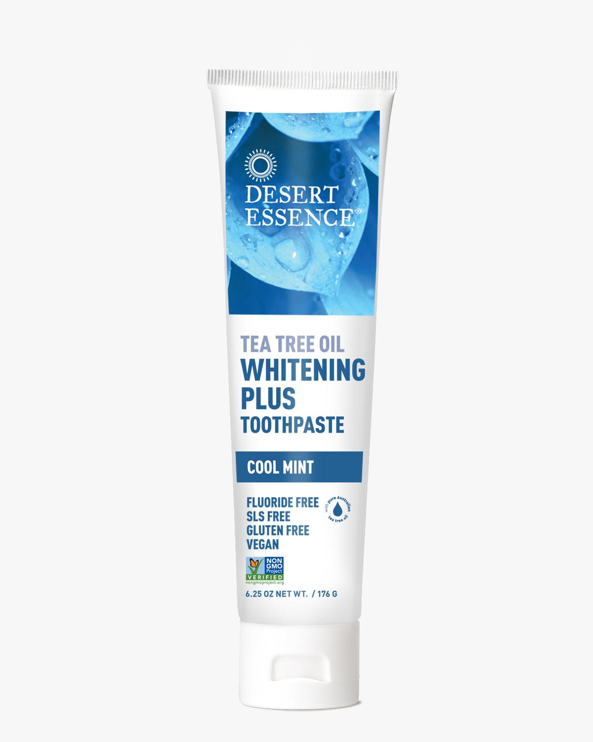 Desert Essence coupon: Desert Essence Tea Tree Oil Whitening Plus Toothpaste, 6.25 oz. | Vegan | Gluten-Free
