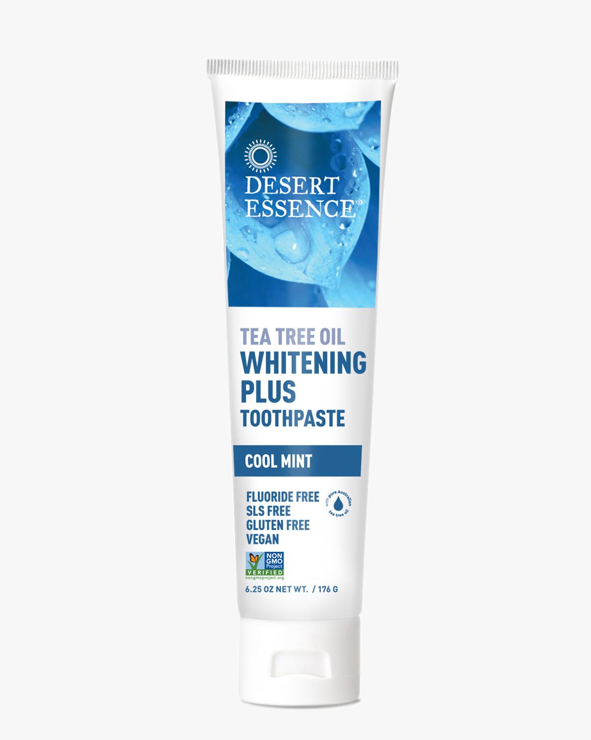 Desert Essence coupon: Desert Essence Tea Tree Oil Whitening Plus Toothpaste, 6.25 oz.   Vegan   Gluten-Free
