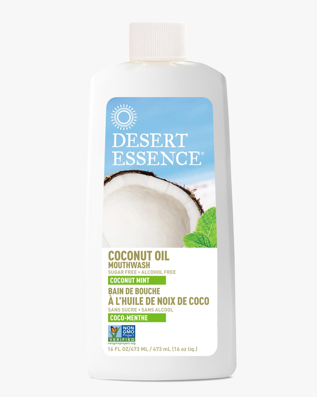 Desert Essence coupon: Desert Essence Coconut Oil Mouthwash, 16 fl. oz.   Vegan   Gluten-Free