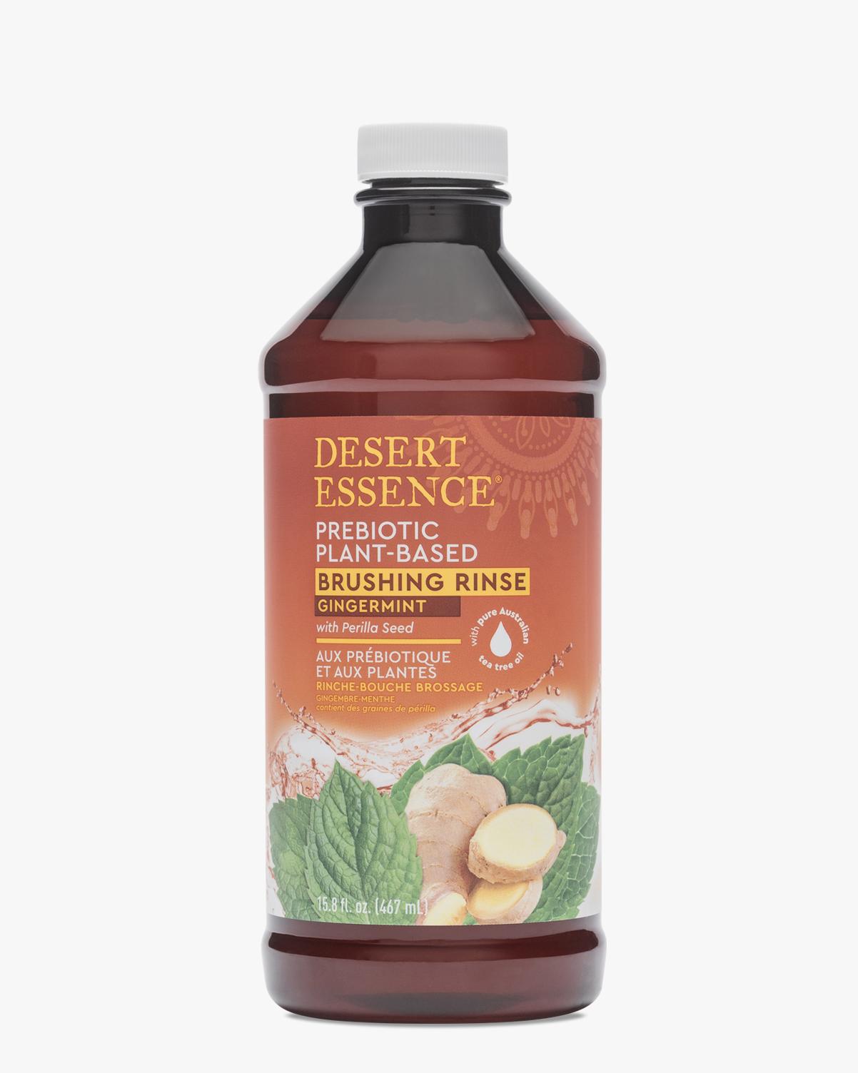 Desert Essence coupon: Desert Essence Prebiotic Plant Based Brushing Rinse - Gingermint Mouthwash, 15.8 oz. | Vegan | Gluten-Free