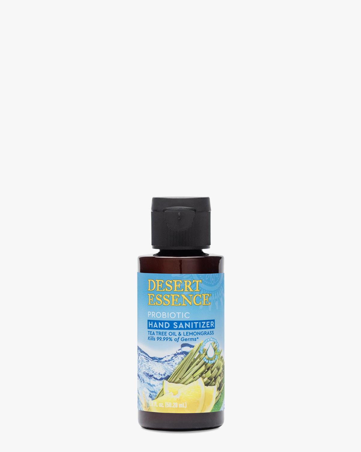 Desert Essence coupon: Desert Essence Tea Tree Oil & Lemongrass Probiotic Hand Sanitizer 1.7oz   Vegan   Gluten-Free