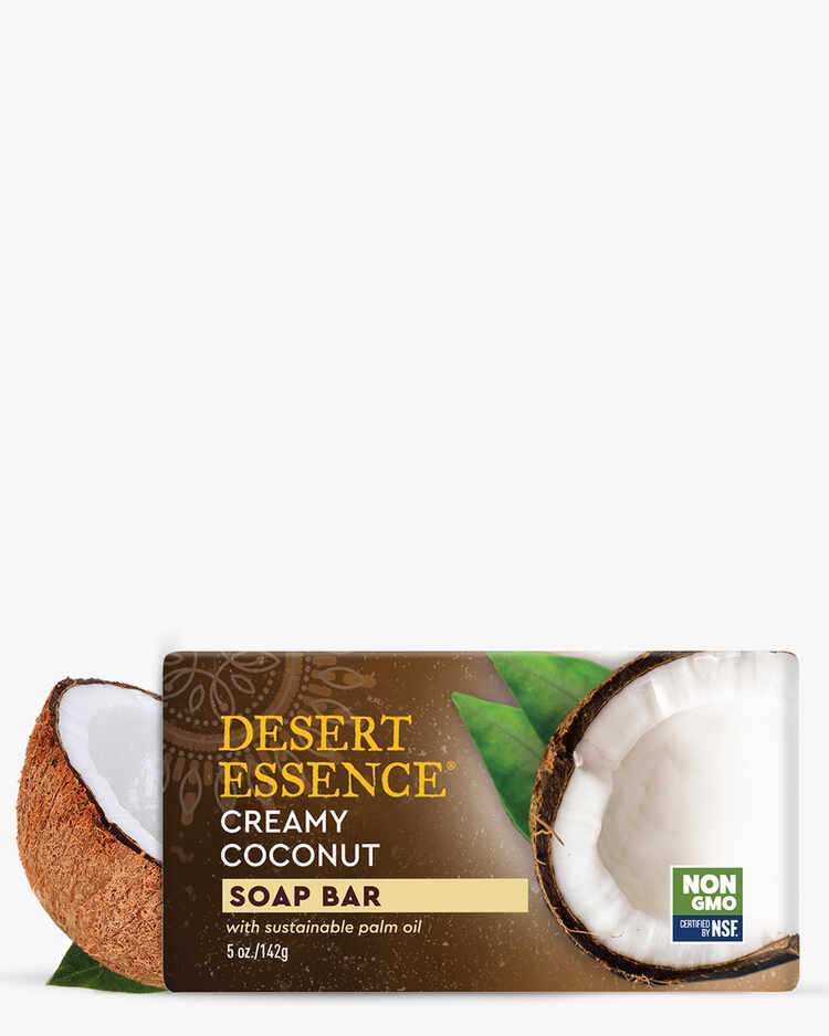 Non-GMO and Plant-Based Creamy Coconut Soap Bar