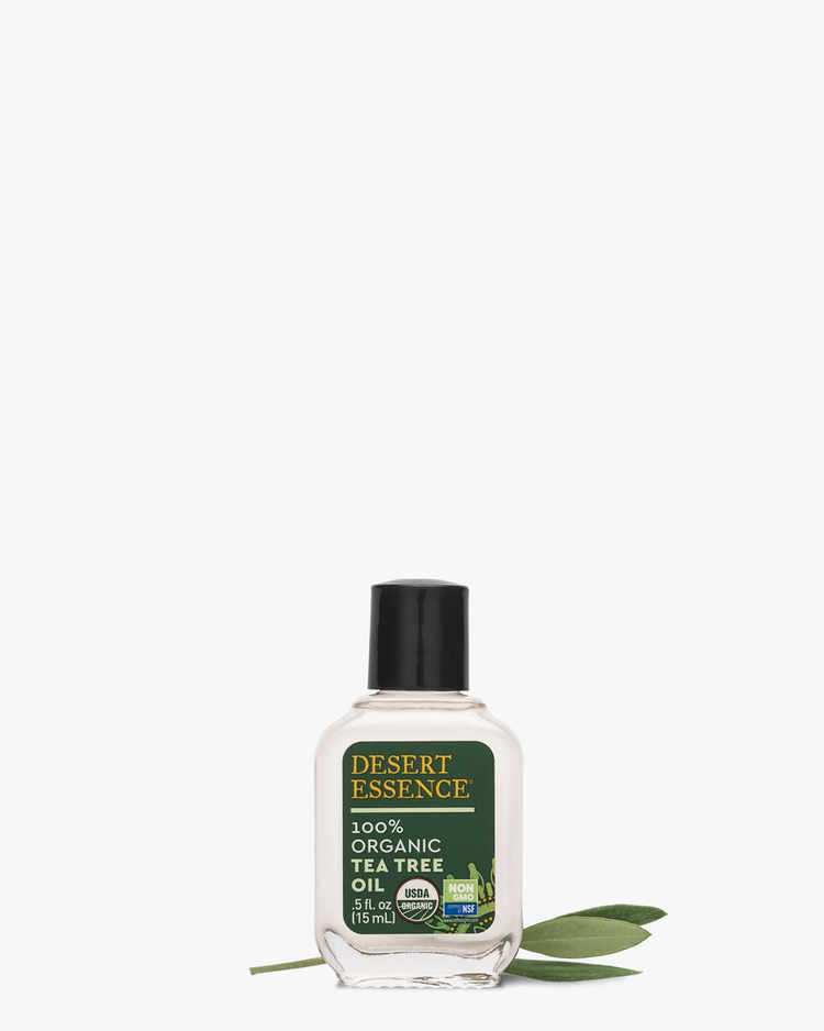 100% USDA Organic Tea Tree Oil with Tea Tree Leaf