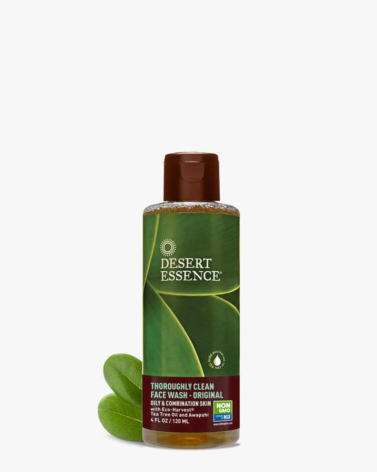 Thoroughly Clean Face Wash with Eco-Harvest Tea Tree Oil for Oily & Combination Skin