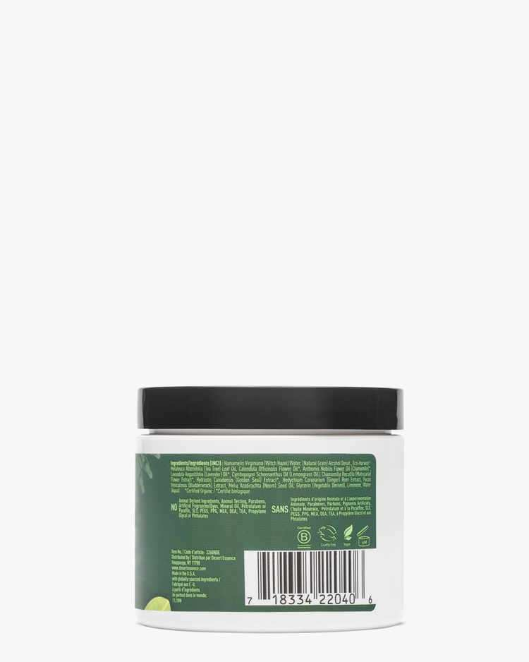Back of Daily Facial Cleansing Pads Label with Ingredients