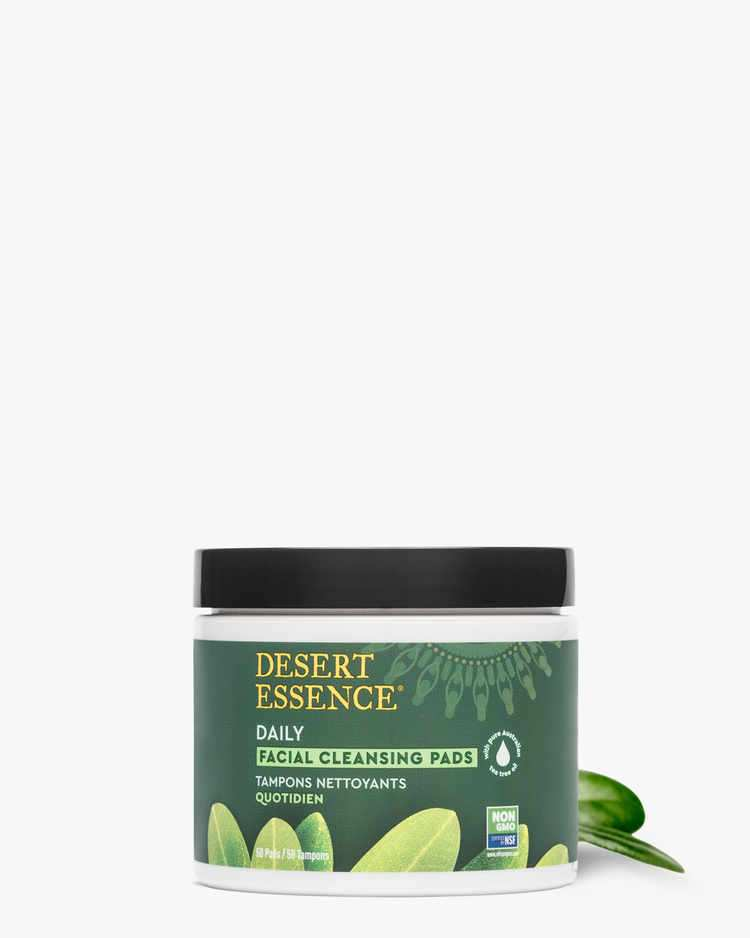 Tea Tree Oil Daily Facial Cleansing Pads with Tea Tree Leaf