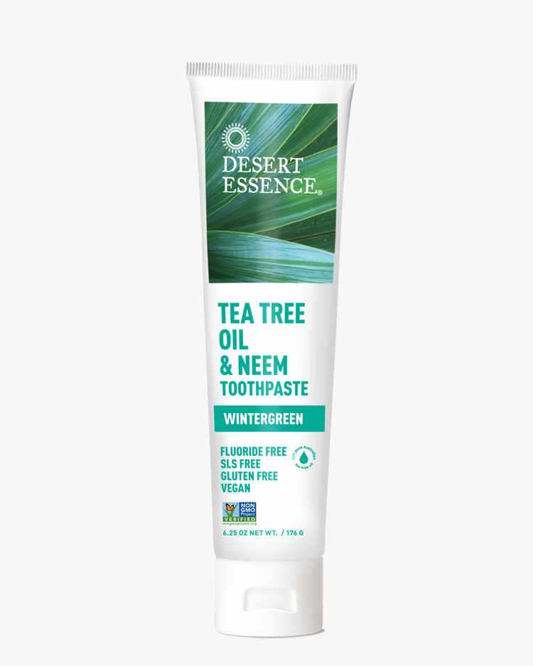 Image of Tea Tree Oil & Neem Toothpaste - Wintergreen