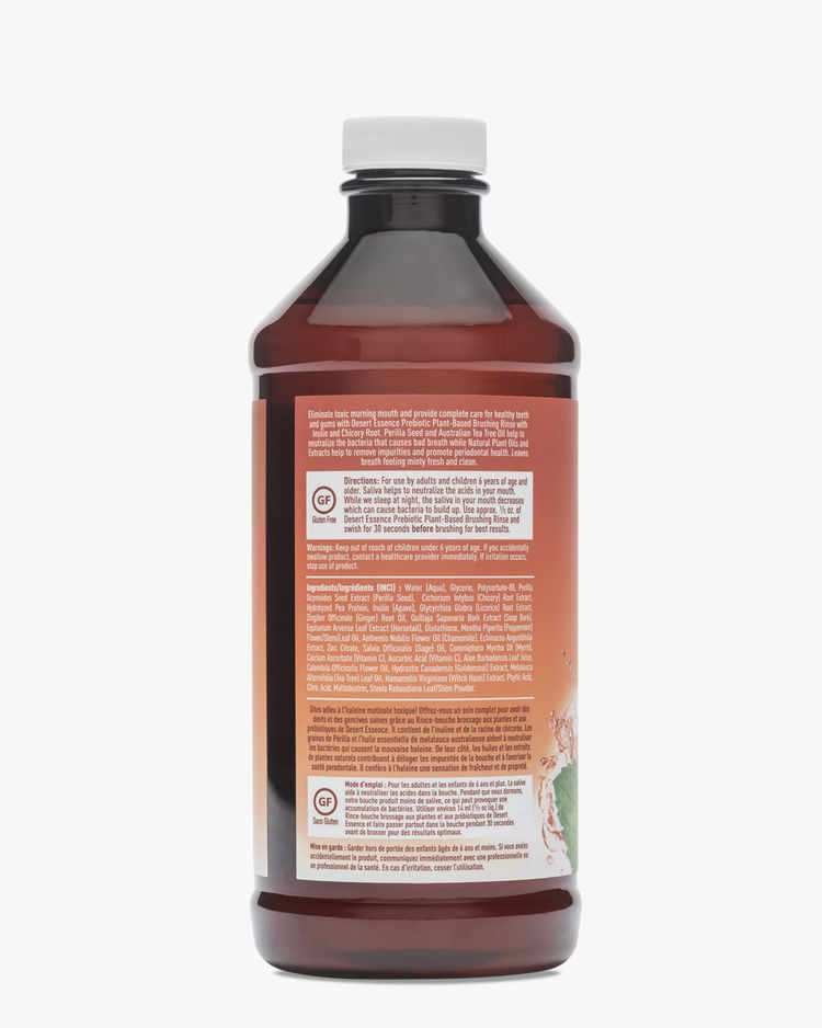 Image of Prebiotic Plant Based Brushing Rinse - Gingermint - 2